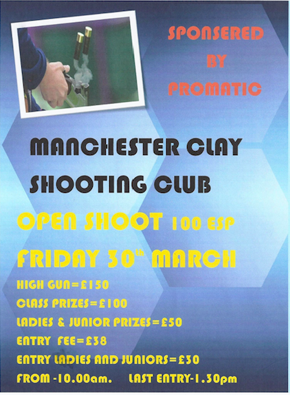 Open Shoot 30th March